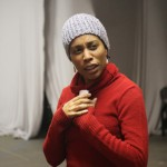 Comedian Dawn Fraser rehearsing with The Marriage Court by Shafiqa.