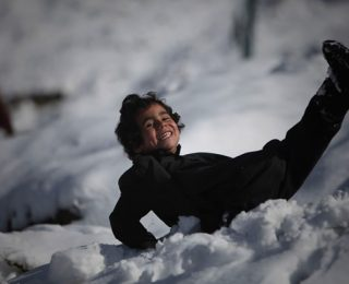Kabul's First Snow of 2012