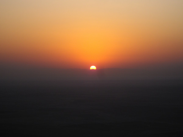 sunrise over desert
