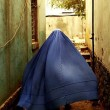 burqa in alley