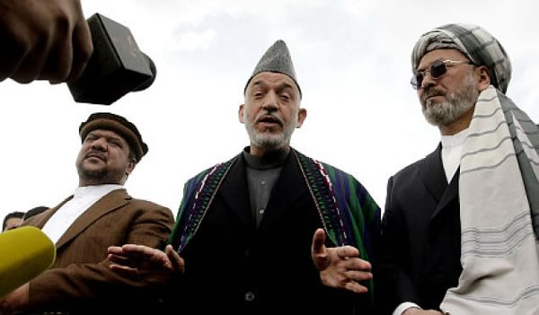 karzai with vice presidents