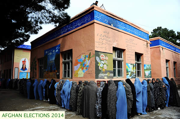 voting line in Herat