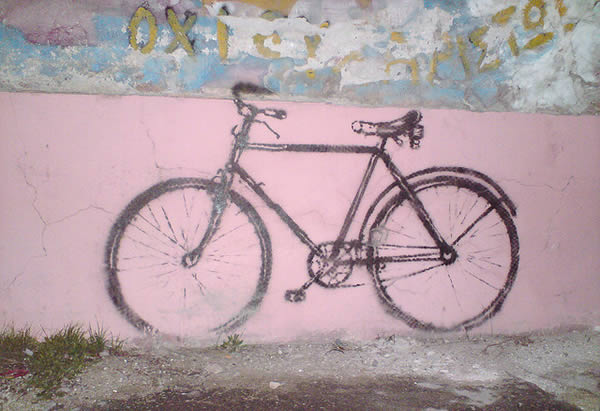 bicycle-on-wall